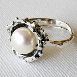Žiedas su Perlu Ž507