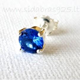 Серьги с ярко-синим Цирконием A252-M