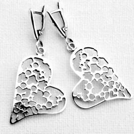 """Earrings """"Hearts"""" A566"""