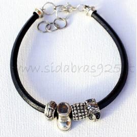 Bracelet with genuine leather AP4Ž