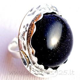 Žiedas su Nakties akmeniu Ž543