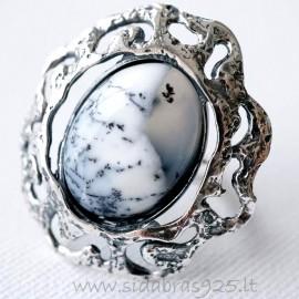 """Žiedas su Agatu """"Saulės virpesiai"""" Ž470-2"""