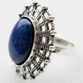 """Žiedas su """"Dangiškuoju akmeniu """" Lazuritu Ž540"""