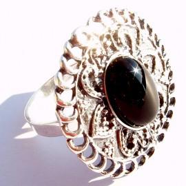 Žiedas su Oniksu Ž357
