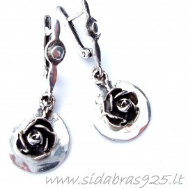 "Earrings ""Roses""A283"