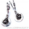 "Earrings ""Roses""A283"