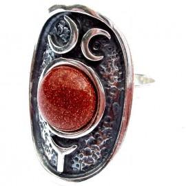 Sidabrinis žiedas su Saulės akmeniu