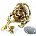 Žalvarinis žiedas Rožės gėlė ŽŽ618