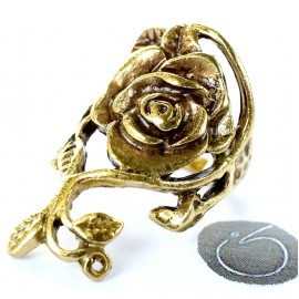 Кольцо из латуни Роза цветок ŽŽ618