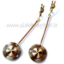 Žalvariniai auskarai ŽA564