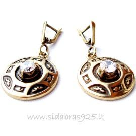 Žalvariniai auskarai ŽA257-A