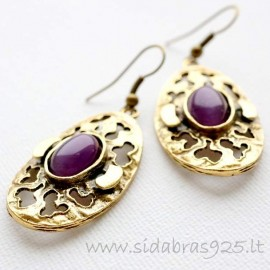 Brass earrings ŽA493
