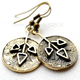 Brass earrings ŽA002-A