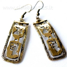 Brass earrings ŽA314