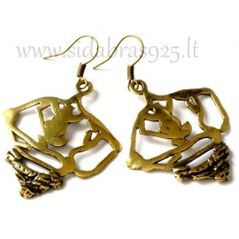 "Brass earrings ""Vėduoklė""ŽA314"