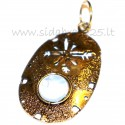 Žalvarinis pakabukas su Mėnulio akmeniu ŽP545