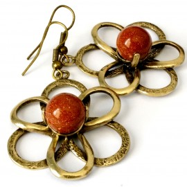 Brass earrings ŽA532