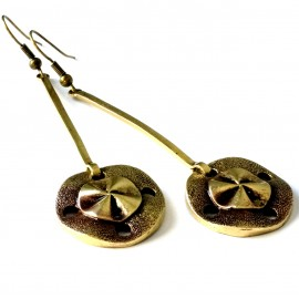 Brass earrings ŽA623-1