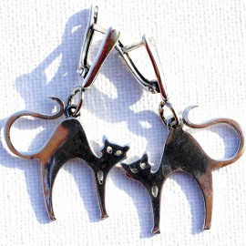 """Earrings """"Cats"""" A600"""