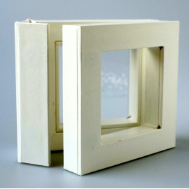 "Dovanų dėžutė ""Rėmeliai 3D"" TW 01 balta 50x50"