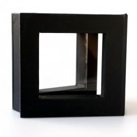 """Dovanų dėžutė """"Rėmeliai 3D"""" TW 01 juoda 50x50"""