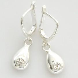 "Earrings with Zirconia ""Vandens lašas"""