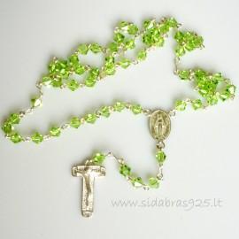 Rožančius su žaliais Swarovskiais 1