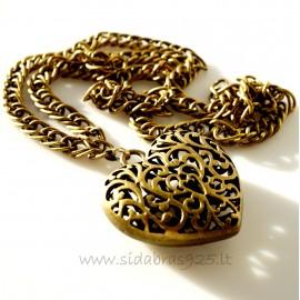 """Brass pendant """"Heart"""""""