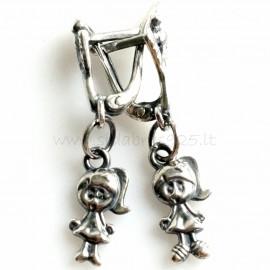 """Earrings """"The little girl"""" A709"""