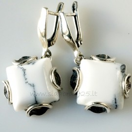 "Earrings ""Baltas sniegas"" A440"