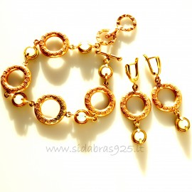 "Bronze jewellery set ""Gold hoops"""