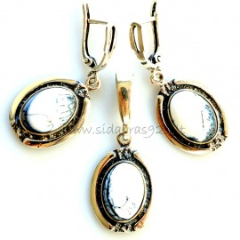 Set with Agate A132
