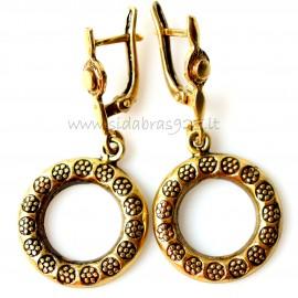 """Brass earrings """"Bubbles flowers"""""""