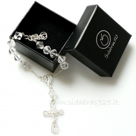 Rosaries on hand with large Swarovski crystals RR2SW