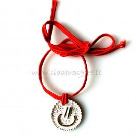 Браслет с красным шнурком AP217