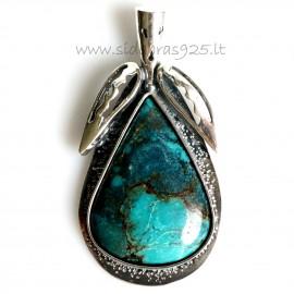 """Unique jewelry """"Prabangus natūralus Turkis"""""""
