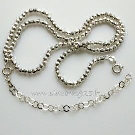 Chain - necklace with faceted bubbles