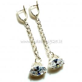 """Earrings with Zirconia """"Laivelis"""""""