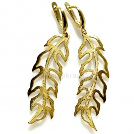 """Brass earrings """"Lapeliai"""""""