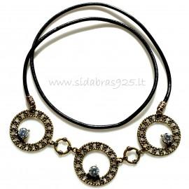 Brass necklace Cirkonais ŽK240