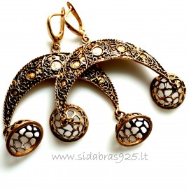 Bronze earrings BA523