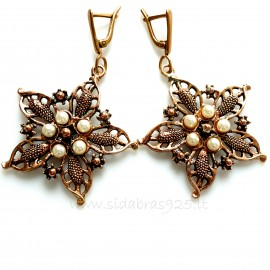 Bronze earrings Perlais BA462