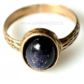 Bronze ring Nakties akmeniu BŽ147