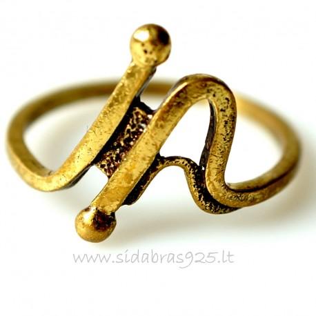 Žalvarinis žiedas ŽŽ075