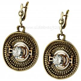 """Brass earrings """"Kasytės"""""""