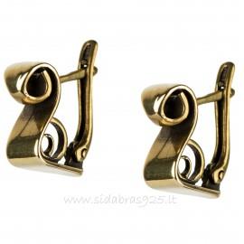 """Brass earrings ŽA200 """"Gulbė"""""""