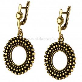 """Brass earrings ŽA602 """"Burbuliukų žiedas"""""""