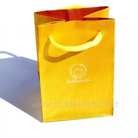 Dovanų maišiukas PO-1 auksinis