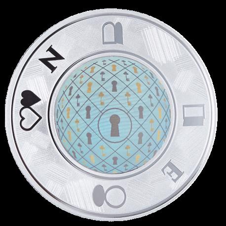 """Medalis """"Sėkmės pinigėlis su holograma"""""""