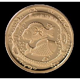 Золотая медаль «Знак зодиака Pыба»